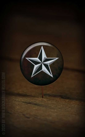 Button Nautical Star 042
