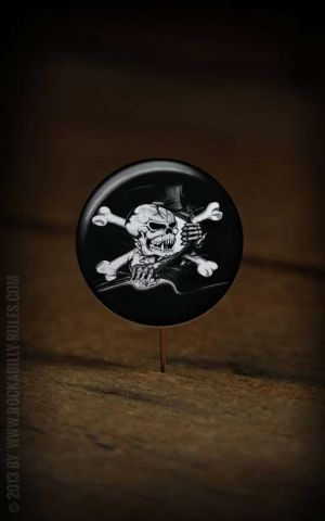 Button Skull Flag 120