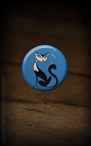Button Blue Cat 147