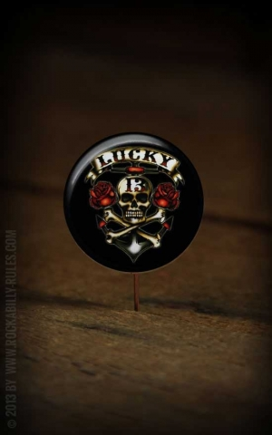 Button Skull & Roses 181