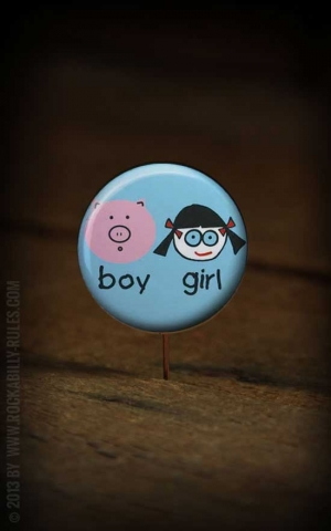 Button boy and girl 221