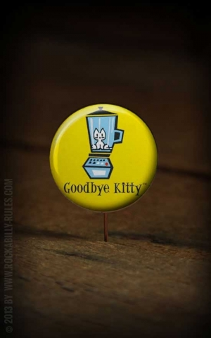 Button Good Bye Kitty 225