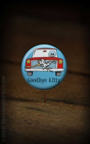Button Good Bye Kitty 226