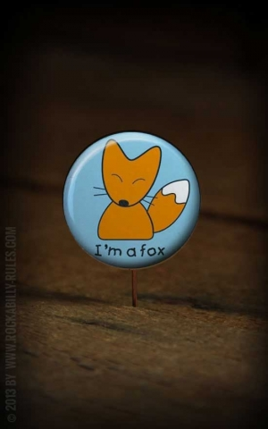 Button I´m a Fox 228