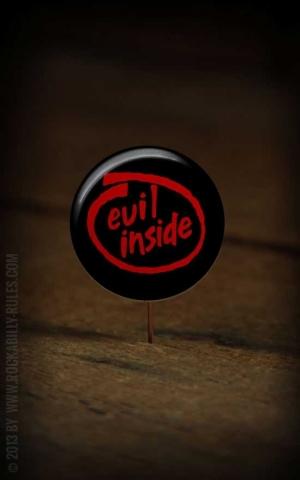 Button Evil Inside 262