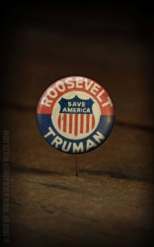 Button - Roosevelt Truman - 364