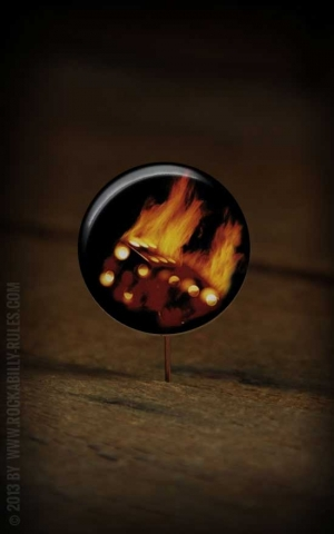 Button Dice on flames 060