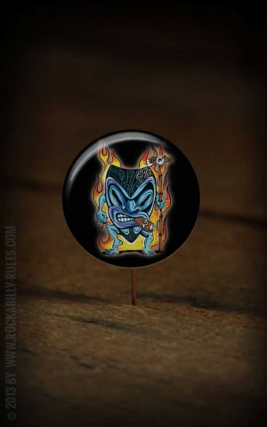 Button Tiki Flame 095