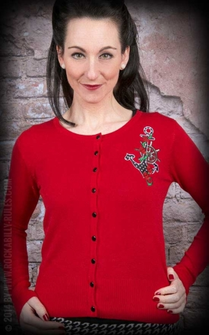 Cardigan Anchor Red