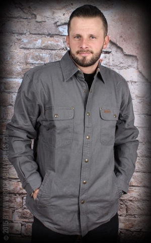 Carhartt - Weathered Canvas Shirt Jacket, gravel