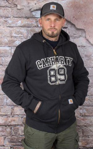 Carhartt - Graphic 89 Zip-Front Sweatshirt, schwarz