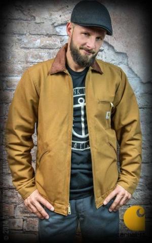 Carhartt Jacke Men Jacket Duck Detroit Brown Model Front