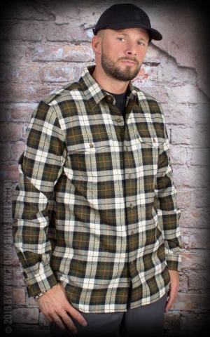 Carhartt - Long Sleeve Slim Fit Flannel Shirt, oliv