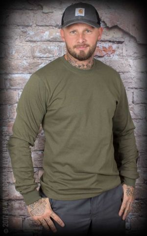 Carhartt - Long Sleeve Logo Shirt, army green
