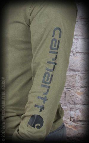 Carhartt - Long Sleeve Logo Shirt, army green