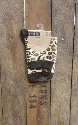 Cette Lady Socks Leopard