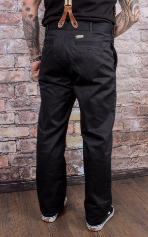 Rumble59 - Selvage Chino Pants California - noir