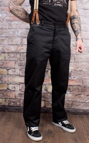 Rumble59 - Selvage Chino Pants California - black