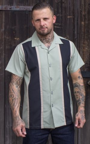 Rumble59 - Classic Shirt - Two Stripes Dusty Mint