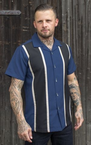 Rumble59 - Classic Shirt - Two Stripes Moonlight Blue