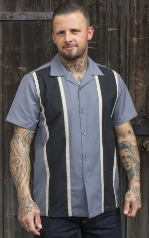 Rumble59 - Classic Shirt - Two Stripes Smoked Grey