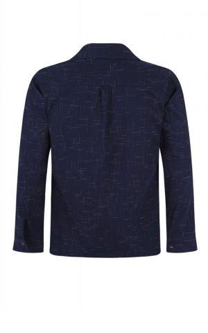 Collectif Adam Crosshatch Shirt, bleu