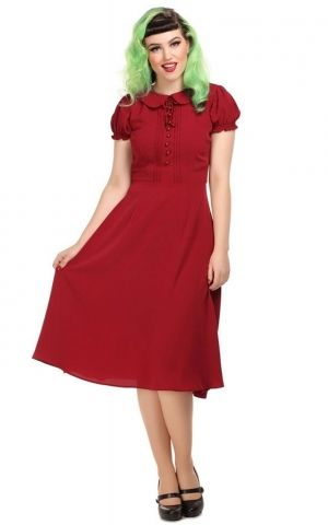 Collectif Giannina Swing Dress red