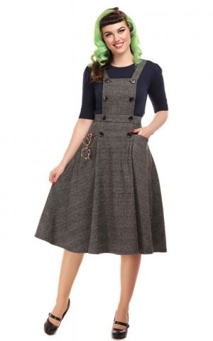 Collectif Sekretärinnen Kleid Brenda | Librarian Check 40s Dress