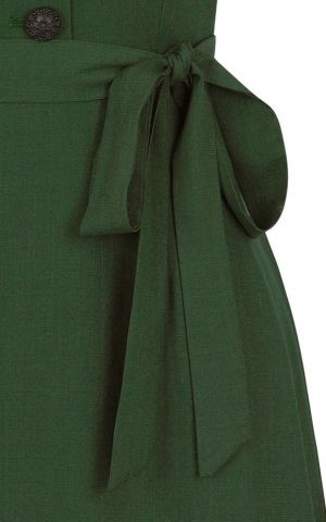 Collectif  40s Vintage Swing Robe Hattie, vert
