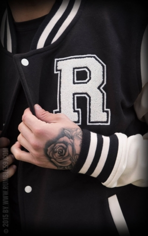 Rumble59 - Male Sweat College Jacke - schwarz/offwhite