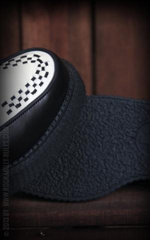 TUK Creeper Black & White Leather Low Sole