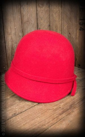 CTH Ericson Woman hat - Analise Sr. Cloche, red