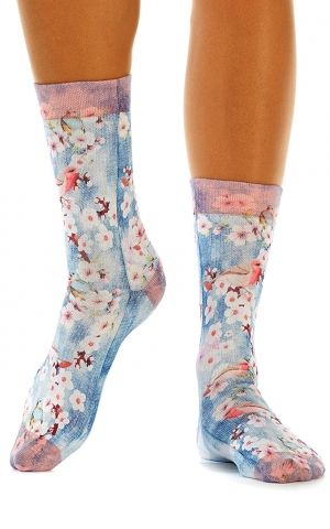 Chaussettes pour Femmes Flower Birds