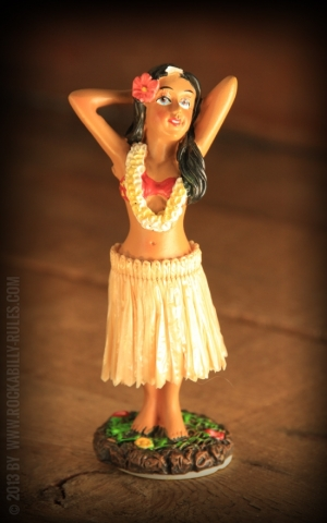 Dashboard Hula Girl Posing
