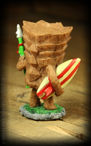 Miniature Dashboard Hula Doll - Tiki Surfer