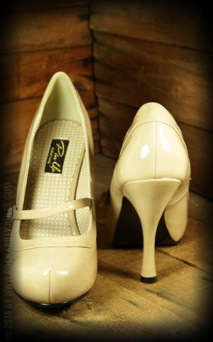 High Heels Mary Jane beige