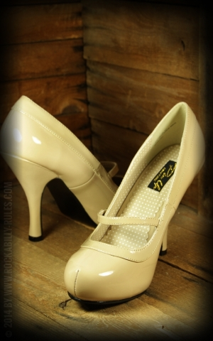 High Heels Mary Jane beige