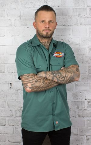 Dickies - Shirt Clintondale, lincoln green
