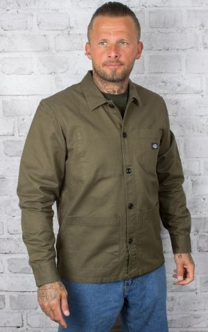 Dickies - Shirt Caprock, dark olive