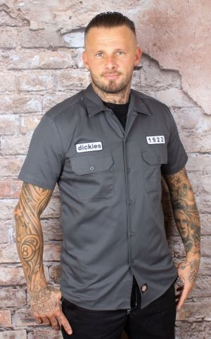 Dickies - Chemise Emory, charcoal grey