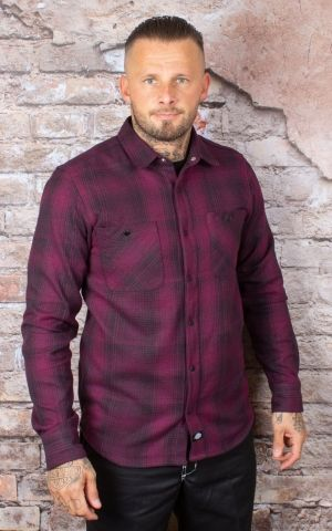 Dickies - Shirt Linville, maroon