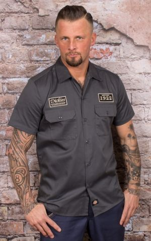 Dickies - Kurzarmhemd North Irwin, grau