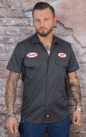 Dickies - Hemd Rotonda South, charcoal grau