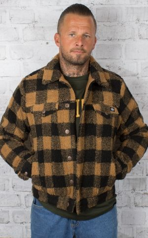 Dickies - Sherpa Unisex Jacke Cawood, brown duck