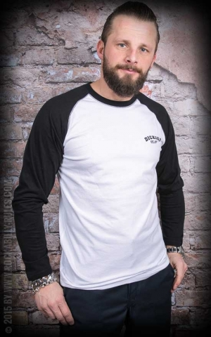 Dickies - Longsleeve Baseball, black white