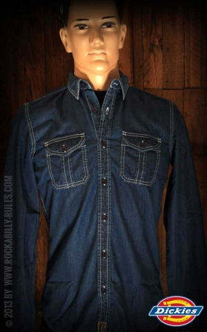 Dickies - Shirt Blue Collar indigo