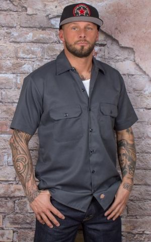 Dickies - Short Sleeve Work Shirt charcoal