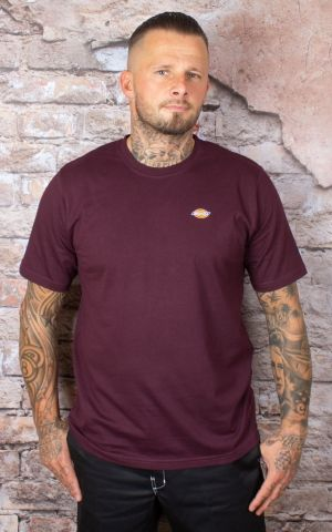 Dickies - T-Shirt Stockdale, maroon