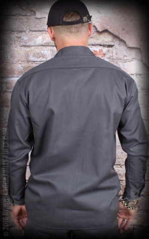 Dickies - Work Shirt Longsleeve, charcoal