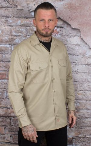Dickies - Work Shirt Longsleeve,  khaki